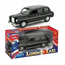 London Black Taxi Car Pull Back Diecast Front Open Door Child Play Fun K... - $7.97