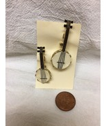 pair of vintage banjo brooches - $9.90