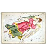 Virgo Constellation; Astrology Star Chart; Zodiac Engraving by Sidney Hall - $35.34 CAD+