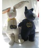 1994 North American Bear Knit-Knacks, bunny & dog, hanging tags unused - $85.00