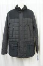 Nautica Men's Jacket Sz L True Black Quilted Sherpa Collar Faux Suede Pu... - $114.35