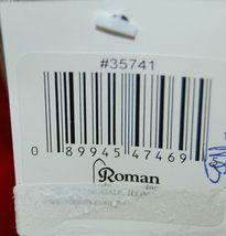 Roman Incorperated Detailed Santa Figurine Holding Filigree Gold Staff image 7