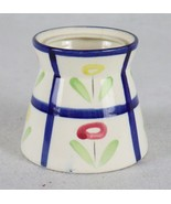 Provincial Royal Sealy Japan Ceramic Tulip Flower Jar Red & Yellow Flowers  - $19.79