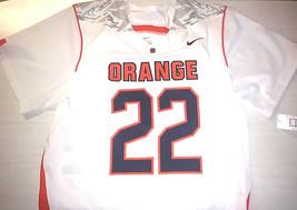 Nike Syracuse Team Issued Lacrosse Jersey Mens L White/Orange #22 Sewn L... - $58.50