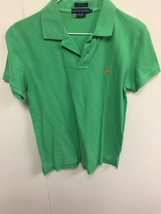 Ralph Lauren polo shirt M women's classic fit Lime Green short sleeve me... - $8.90