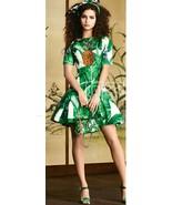 NWT Dolce&Gabbana brocade banana leaf pineapple mini dress  IT 38/US 4 R... - $770.92