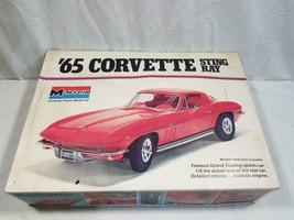 Vintage Monogram 1965 Corvette Sting Ray 1/8 Model Kit # 2600 FREE USA SHIP - $250.00