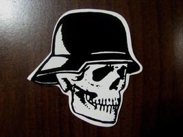 Halloween small sticker Biker skull skeleton facing right - £4.26 GBP