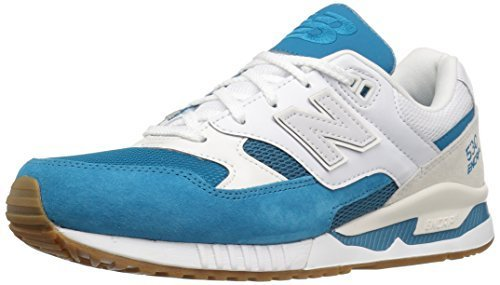 New Balance Men's 530 Summer Waves Collection Lifestyle Sneaker, Teal/White, 10