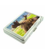 Alaska Images D6 Cigarette Case with Built in Lighter Metal Wallet Moose - $16.95