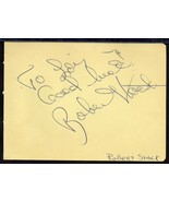 ROBERT STACK AUTOGRAPH. Signed on album page. - $15.35