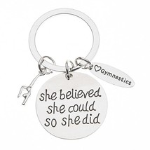 Gymnastics She Believed She Could So She Did Keychain - $9.99
