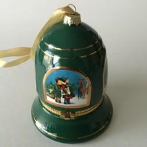 "Mr. Christmas Bell Ornament Music Box  Plays Silent Night Green 4""X3.5"" X3.5"" - $17.57"