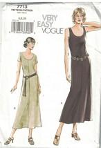 7713 Uncut Vogue Couture Motif Femmes Tirer sur Légèrement Robe Évasée N... - $4.88
