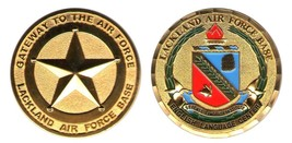 "LACKLAND AFB AIR FORCE BASE DEFENSE LANGUAGE 1.75"" CHALLENGE COIN - $16.24"