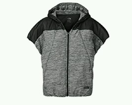 The  North Face* Pseudio Poncho Hooded  Gray Black Size xl retail 130 - $79.19