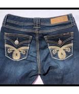 Seven7 Embellished Rocker Slim Jeans Dark Wash Women's Size 2 - $24.75