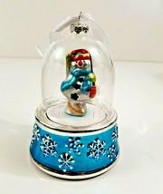 Mr. Christmas Snowman Glass Snow Globe Ornament Music Box Holiday Decor - $8.99