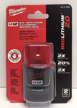 (New) Milwaukee M12 12V RED LITHIUM 2.0 Compact Battery Pack 48-11-2420 - $29.99