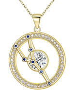 Taurus Sterling Sliver CZ Horoscope Zodiac Constellation Pendant Necklac... - $66.82