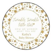 12 Twinkle Twinkle little star Baby Shower Stickers Favors Labels girl b... - $8.99
