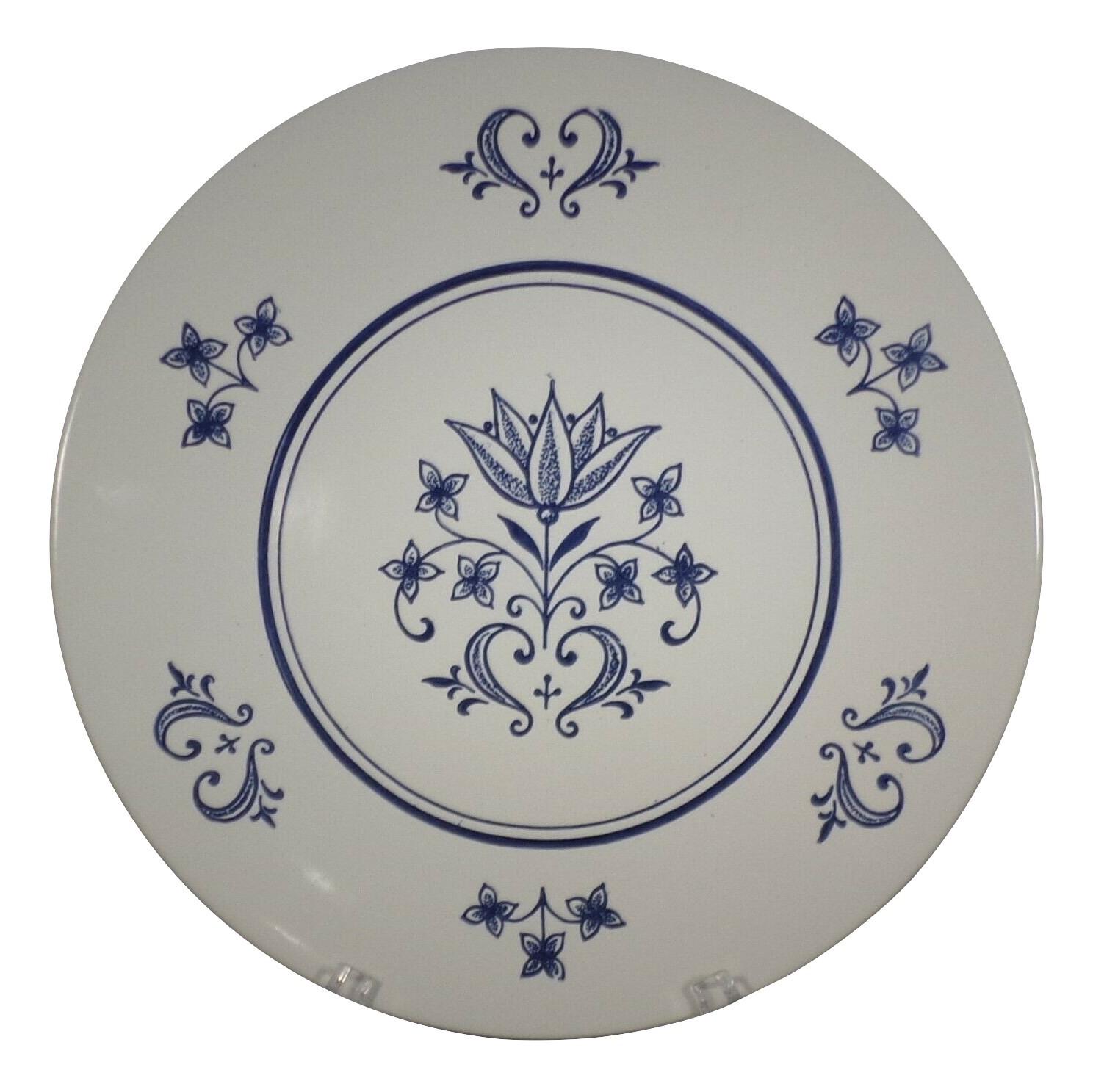 "Homer Laughlin Plate 10"" Dinner - Sheffield Provincial USA Blue Tulip Ironstone  - $3.96"