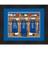 Personalized Dallas Mavericks 12 x 16 Locker Room Framed Print - $63.95