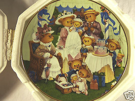 Franklin Mint TEDDY BEAR BIRTHDAY PARTY Porcelain Collector Plate w COA ... - $16.45