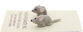 Hagen-Renaker Miniature Ceramic Mouse Figurine Tiny Baby Mice 2 Piece Set image 2