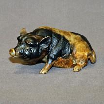 Wonderful Pig Bronze Art Figurine Sculpture Statue Limited Edition Signe... - $485.10