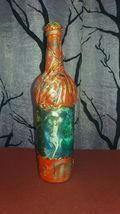 Magic Four Elements: Earth, Water, Air, and Fire decoupage bottle. Altar tool - $99.99