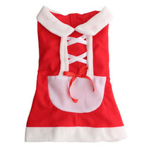 Pet Puppy Dog Cat Christmas Santa Claus Dress Clothes Costume Coat Appar... - $11.04