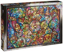 Tenyo jigsaw puzzle Disney Stained Art All-Star stained glass 1000 piece... - $62.42