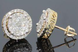 14k Yellow Gold Plated 925 Silver Round Cut White Diamond Women's Stud Earrings - $105.23