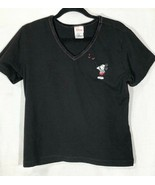Disney Store Ladies Embroidered Mickey Mouse Hearts  V-neck top T-shirt ... - $24.99
