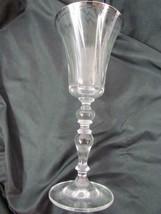 """Mikasa Jamestown Platinum Trim Wine Glass 8 1/2"""" Tall - $28.49"""