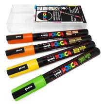 Uni POSCA - PC-3M Art Marker Paint Pens - 4 Pack Wallet - Citrus Tones - $13.55