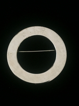 Vintage 50s Flat Gold Circle brooch