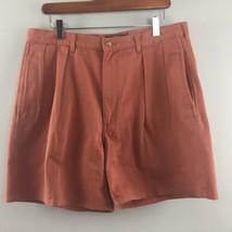 Polo Ralph Lauren Chino Shorts 34 Rust Pleated 100% Cotton Mens - $37.62