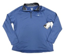 NWT Champion Performance Outerwear Blue 1/4 Zip Up Pullover Jacket Adult Size XL - $39.55