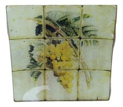 Studio Vertu Grape Rustic Platter Plate Glass 15171 Square - $29.69
