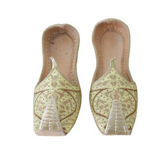 Men Shoes Traditional Indian Handmade Leather Groom Khussa Loafers Jutties US 7 - $39.99