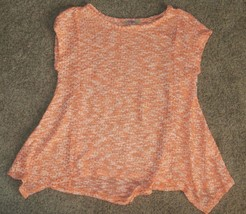 NWT GB Girls Gianni Bini Orange Gold Top Shirt Size M Medium - $3.99