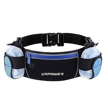 URPOWER Running Belt Multifunctional Zipper Pockets Water Resistant (Blue) - $29.58