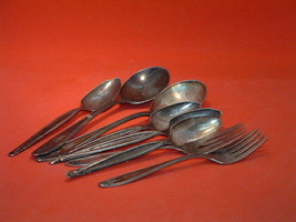 Pre-Owned Vintage 8 Pc Lady Doris Silver Plated Flatware - $19.80