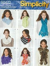 Simplicity 1235 Misses' Scarves Sewing Pattern supplier:sailorsparadise - $13.23