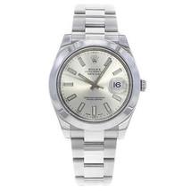 Rolex Datejust II 116300 Silver Sticks Dial Steel 2016 Automatic Mens Watch - $7,399.00