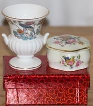 Wedgwood Decorative Bone China Vase/Urn & Royal Worcester Palissy Pot - $6.20