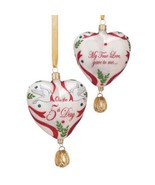 Reed & Barton 5 Golden Rings Glass Ornament Five 12 Days Of Christmas He... - $450.00