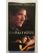 Unfaithful VHS Movie With Richard Gere Diane Lane  - $5.89